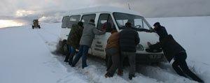 Kar Taskale'de Geçit Vermedi
