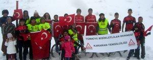 Sarikamis Bisiklet Tirmanisinda Karaman'i Temsil Ettiler