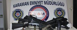 Karaman'da Silah Operasyonu