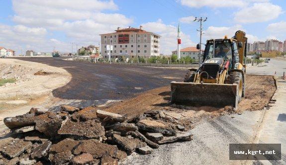 Karaman Belediyesi Toki Yolunu Asfaltladı