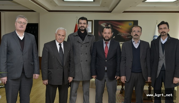 Erbakan Vakfı Karaman Temsilcisinden Rektör Akgül'e Tebrik Ziyareti