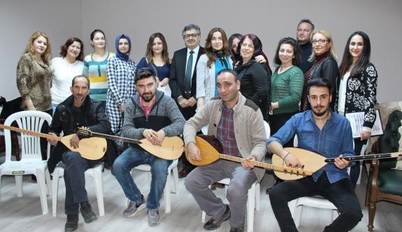 Karaman Kent Konseyi Türk Halk Müziği Korosu Çalışmalarına Devam Ediyor