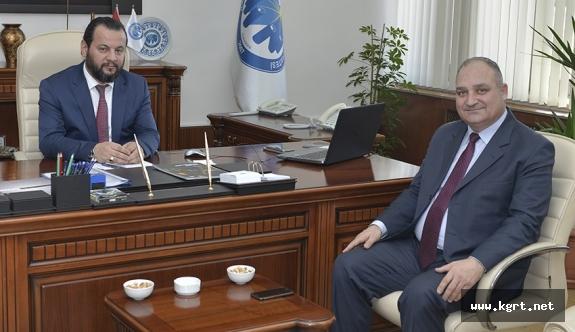 KMÜ Rektörü Akgül'e Tebrik Ziyaretleri Devam Ediyor