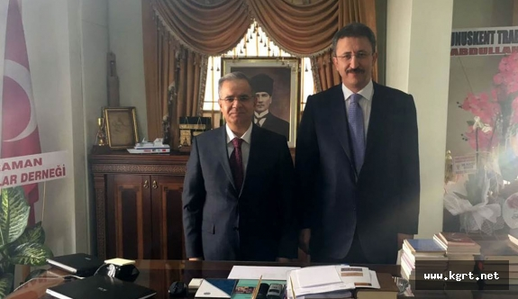 Vali Tapsız İl Müftüsü Ketenci'yi Ziyaret Etti