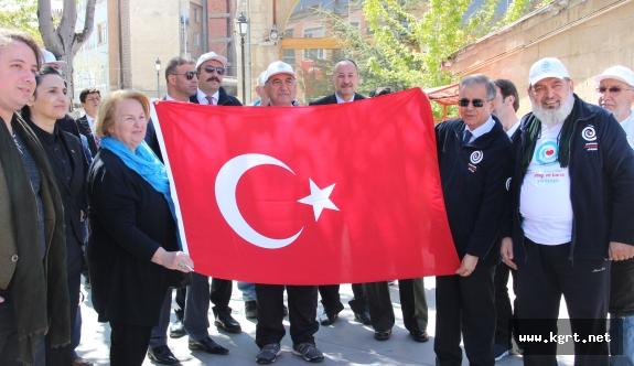 2. Uluslararası Sevgi Ve Barış Yürüyüşü Karaman'dan Başladı