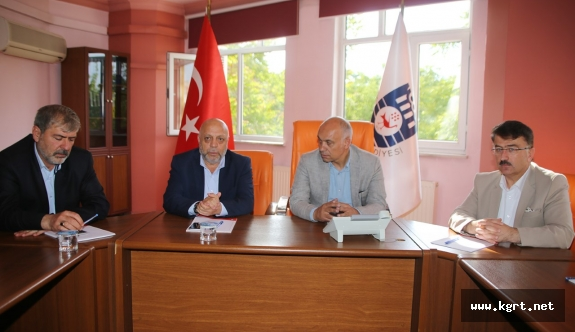 Hak-İş Genel Başkanı Arslan, Başkan Çalışkan'ı Ziyaret Etti