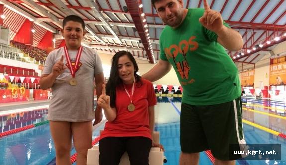 Karaman Bedensel Engelliler Yüzme Takımından Altın Başlangıç