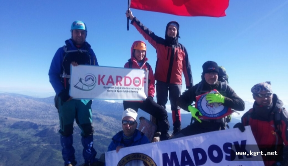 KARDOF'lu İncedal Dedegöl Dağına Tırmandı
