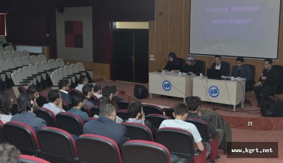 KMÜ'de Cahiliye Toplumunun Genel Yapısı İncelendi