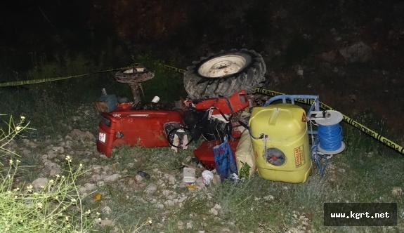 Karaman'da Traktör Dere Yatağına Yuvarlandı: 1 Ölü