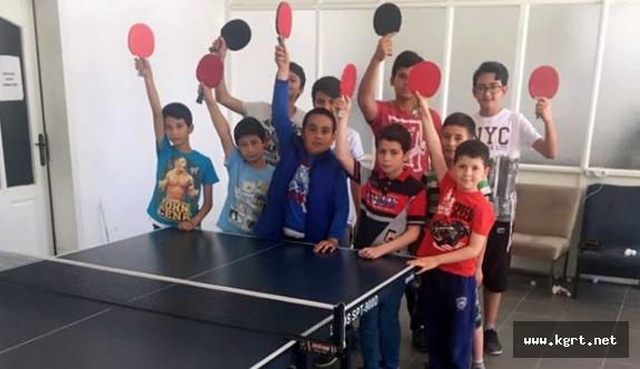 Ermenek'te Masa Tenisi Yaz Spor Okulları Devam Ediyor