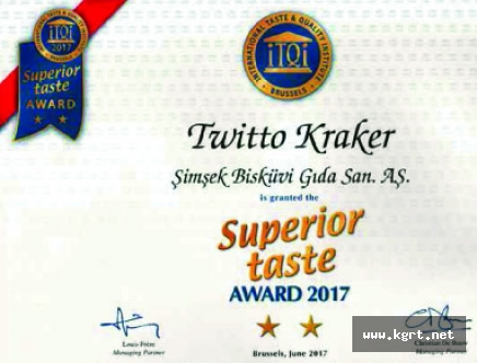 """Türkiye'nin İlk Ve Tek Çıtır Burgu Krakeri Twitto'ya Avrupa'dan, """"Üstün Lezzet Ödülü"""""""