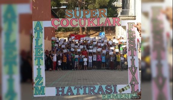 Ermenek'te Süper Çocuklar Atletizm Festivali'nde Buluştu