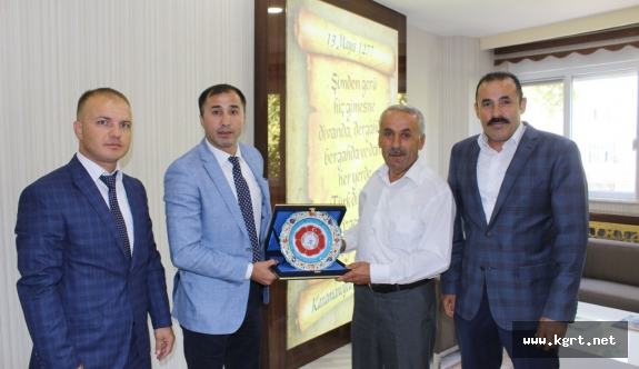 Judo Federasyonu Başkanı Huysuz Karaman Belediyesi'ni Ziyaret Etti