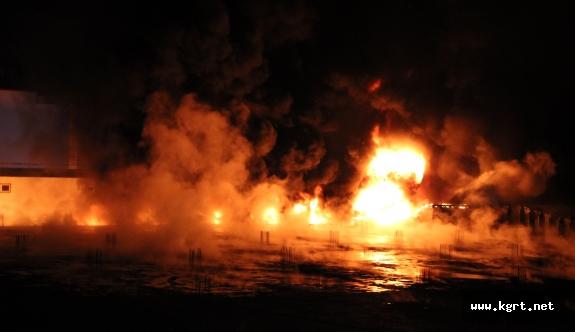 Karaman'da Fabrika Yangını