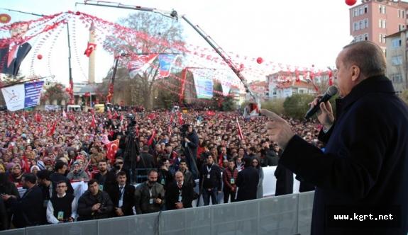 Cumhurbaşkanı Erdoğan Hızlı Trenin 2018'de, Havalimanının İse 2020'de Hizmete Gireceğini Açıkladı