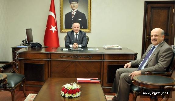 Vali Meral TÜİK Konya Bölge Müdürü Çapoğlu'nu Kabul Etti