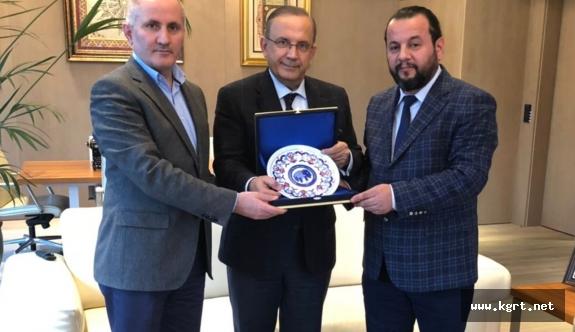 Vali Meral Ve Rektör Akgül'den Selçuk Ecza'ya Ziyaret