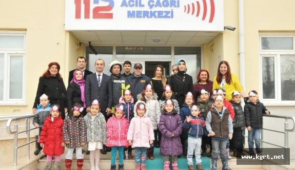 Minik Öğrencilerden 112 Acil Çağrı Merkezine Ziyaret