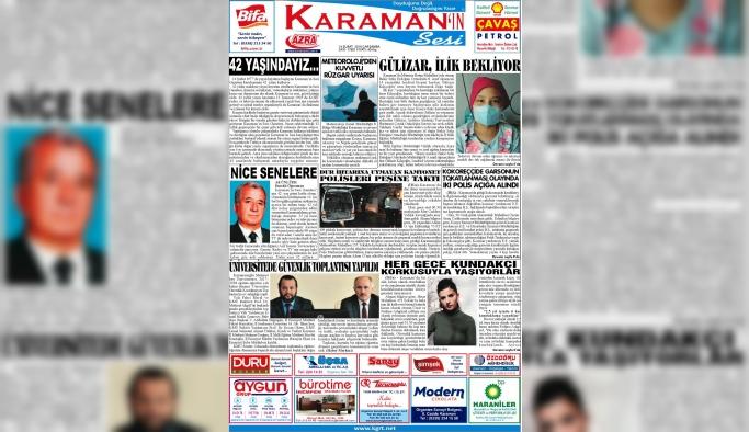 Karaman'ın Sesi Gazetesi 42 Yaşında