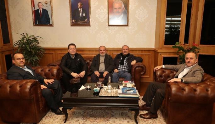 Karamanlılardan Bağcılar Belediye Başkanı Çağırıcı'ya Ziyaret