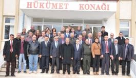 Vali Tapsız Kazımkarabekir'de Muhtarlarla...
