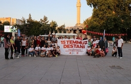 15 Temmuz Anısına Sokak Tenisi Şenliği Yapıldı
