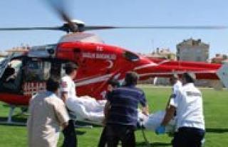 Ambulans Helikopter Epilepsi Hastasi Için Havalandi