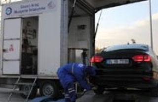Gezici Araç Muayene Istasyonu Artik Egzoz Gazi Emisyonu...