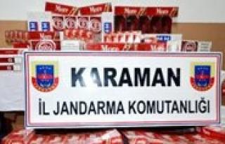 Karaman`da 2 Bin Paket Kaçak Sigara Ele Geçirildi