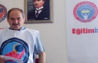 """Egitim-Is Sube Baskani Demir: """"Artik Biçak Kemige..."""