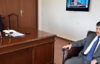AA Konya Bölge Müdürü Ahmet Kayir Vali Kahraman'i...