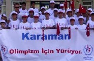 Karaman 7'den 70'e Olimpizm Ruhu Için Yürüdü...