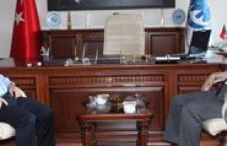 GOP Rektörü Prof. Dr. Mustafa Sahin KMÜ`yü Ziyaret...