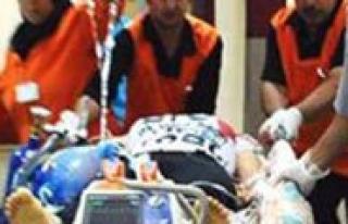 Darp Edilen Kadin Hastaneye Kaldirildi
