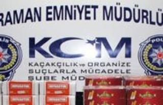 Karaman'da Kaçak Sigara Ve Makaron Operasyonu