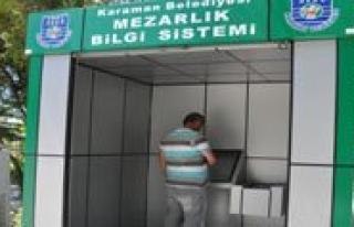 Karaman'da Mezarlik Bilgi Sistemi Hizmete Girdi