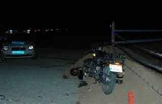 Motosiklet Sürücüsü Hayatini Kaybetti