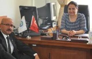 Baskan Samur'dan Ilçe Nüfus Müdürü Ertem'e...