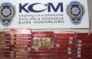 Otomobilden 2 Bin 660 Paket Kaçak Sigara Çikti