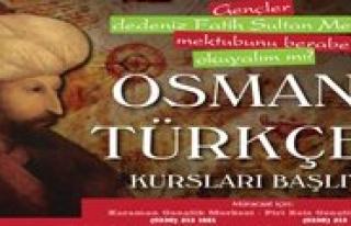 Gençler Osmanli Türkçesi Ögrenecek
