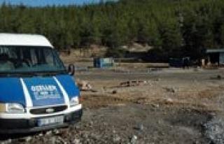 Madencileri Ocaga Getiren Minibüs Terk Edilmis Halde...