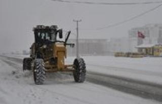 Karaman Belediyesi'nden Kar Mücadelesi