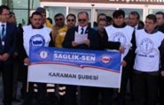 Karaman'da Saglik-Sen'den Basin Açiklamasi