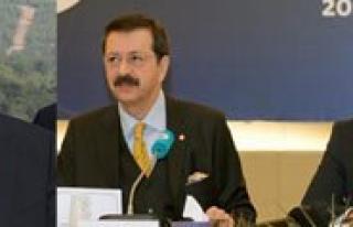 Bakanlar Elvan, Yildiz Ve TOBB Baskani Hisarciklioglu...