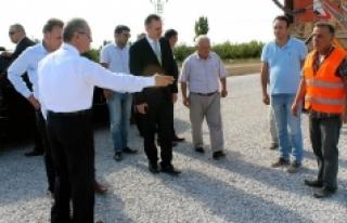 Vali Tapsız, Köy Yollarında Yürütülen Çalışmaları...