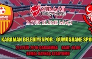Karaman Belediyespor Kupada Gümüşhanespor İle...