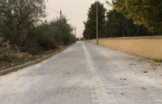 Ayrancı'da Bahçe Yollarına Kilitli Taş Döşeniyor