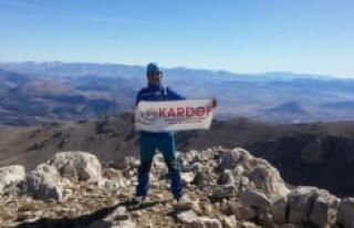 KARDOF Tomarza'da Beydağına Tırmandı