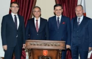 Vali Tapsız Ankara Valisi Topaca'yı Ziyaret Etti